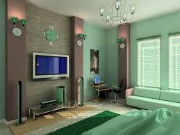 living hanging plasma lcd flat screen tv dark gray headboard bed