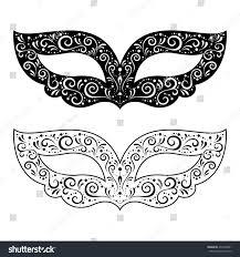 black and white masquerade masks vector illustration black white masquerade masks stock vector