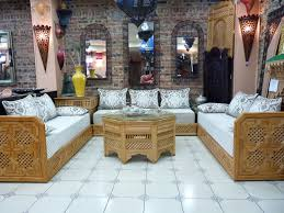 Idee Deco Salon Marocain by Ensemble De Salon Marocain En Bois On Decoration D Interieur