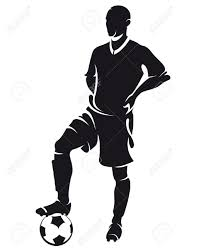 man holding soccer ball silhouette google search football
