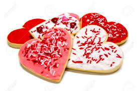 valentines day cookies pile of heart shaped valentines day cookies white stock photo