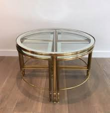 Brass Coffee Table Brass Coffee Table 4 Nesting Tables 1960s For Sale At Pamono