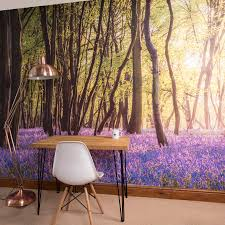 bluebell woods self adhesive wallpaper mural by oakdene designs