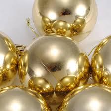 6pcs christmas tree baubles golden ball ornaments spark pendants