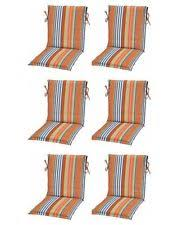 Patio Chair Cushions Set Of 4 Set Of 4 Outdoor Patio Seat Chair Cushions Pads 16x16 Blue Orange
