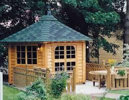 Garden Summer Houses Scotland - log cabins custom built bespoke garden sheds builder fife scotland