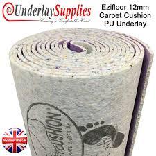 ezifloor carpet cushion 12mm pu carpet underlay 15m2 underlay