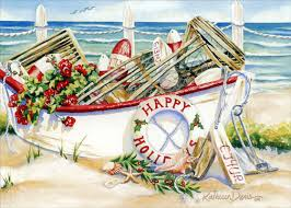 nautical christmas cards boat box of 18 nautical christmas cards by lpg greetings