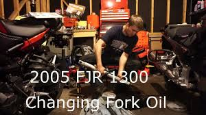 how to change the fork fluid oil on an fjr 1300 a