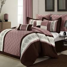 8 Piece forter Set Livingston Rose Brown