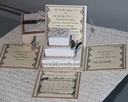 3d Invitation Card Lace Exploding Box Wedding Invitations W Square Cake Jinkys Crafts