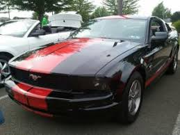Black Mustang With Red Stripes Wfwmja2005 Ford Mustang Rick Burkholderthumbnail Jpg