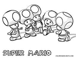 mario characters coloring pages coloring