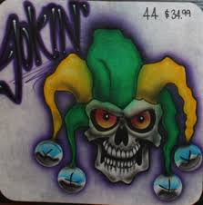 joker skull airbrush tattoos island tribal designs