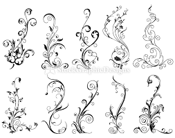 floral ornaments set 1 vol 2 vector photoshop brushes