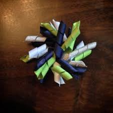 seahawk ribbon seattle seahawks big hair bow 9 50 on etsy hair bows