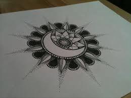 lovely mandala sun and moon design
