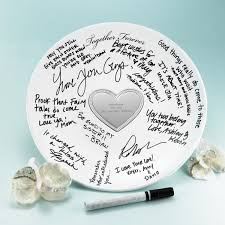 signable wedding platters signature plate