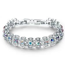 silver bracelet designs images Buy yellow chimes crystals from swarovski mesmerizing beauty jpg