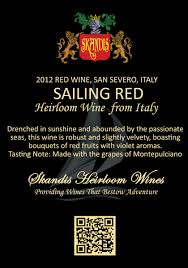 sailing red skandis fine wines llc