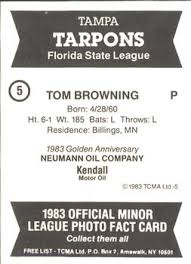 tom browning gallery the trading card database