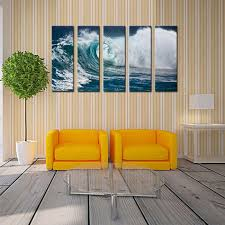 2017 wave seascape print on canvas roaring wave painting canvas no