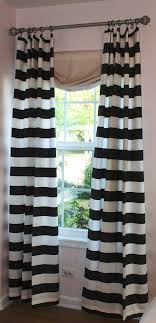 Black And White Striped Curtains How To Spice Up The Room With Black And White Striped Curtains