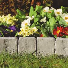 garden great garden edging stone decor ideas garden edging red