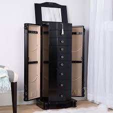 Black Microwave Cart Florence Jewelry Armoire Antiqued Black Lacquer Hives And Honey