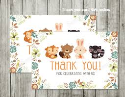Baby Shower Invitations And Thank You Cards Woodland Baby Shower Thank You Card Woodland Baby Shower Invites