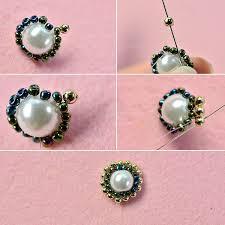 flower bracelet diy images Handmade three strand green flower bracelet with pearl beads jpg