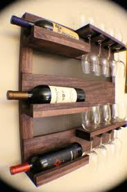 wall mounted wine rack with glass holder nytexas