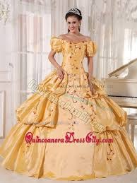 gold quince dresses gold gown the shoulder embroidery quinceanera dress 169 97