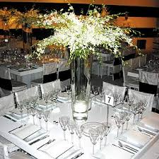 Clear Vases Absolutely Wild Filled Tall Clear Vases With White Flowers On The