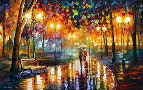 rain u0027s rustle by leonid afremov by leonidafremov on deviantart