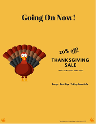 thanksgiving deals started early 20 storewide