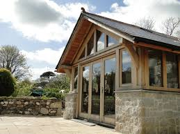 Sunroom Extension Designs Oak Frame And Granite Extension To A Traditional Cottage In Cornwall