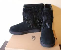ugg womens kona boots ugg australia peacock feather black s boots
