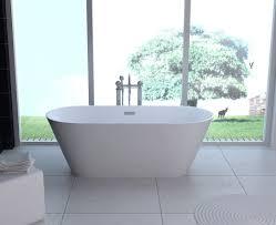 amazon com kbm freestanding modern seamless acrylic bathtub