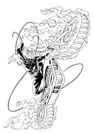 ghost rider coloring pages ghost rider by therealarturo on deviantart