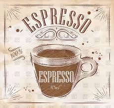 espresso coffee clipart poster coffee espresso in vintage style vector clipart image