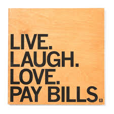 live laugh love live laugh love pay bills wall art raygun
