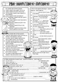 must mustn u0027t have to don u0027t have to worksheet free esl