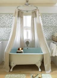Classic Shower Curtain Clawfoot Tub Shower Curtain Rod Bathroom Farmhouse With Accent