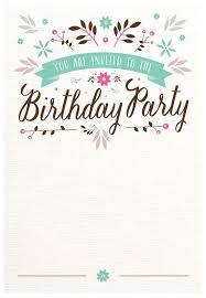 birthday invitations templates best 25 birthday invitation