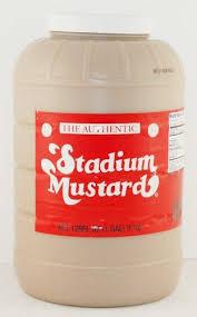 stadium mustard stadium mustard 1 gallon 4 mustard condiment