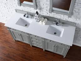 Bathroom Vanity Double Sink 72 by Contemporary 72 Inch Double Sink Bathroom Vanity Gray Finish No Top