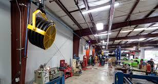 garage workshops gas monkey garage uses large portable fans u0026 ceiling fans by big
