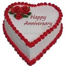 anniversary cake anniversary heart shape cake free shipping in delhi ncr yummycake