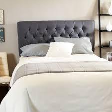 bedroom button tufted gray headboard mixed unique brown cushions button tufted gray headboard mixed unique